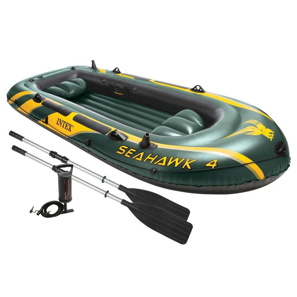 Intex Boot Seahawk 4 Set, grün, 351 x 145 x 48 cm/4-teilig