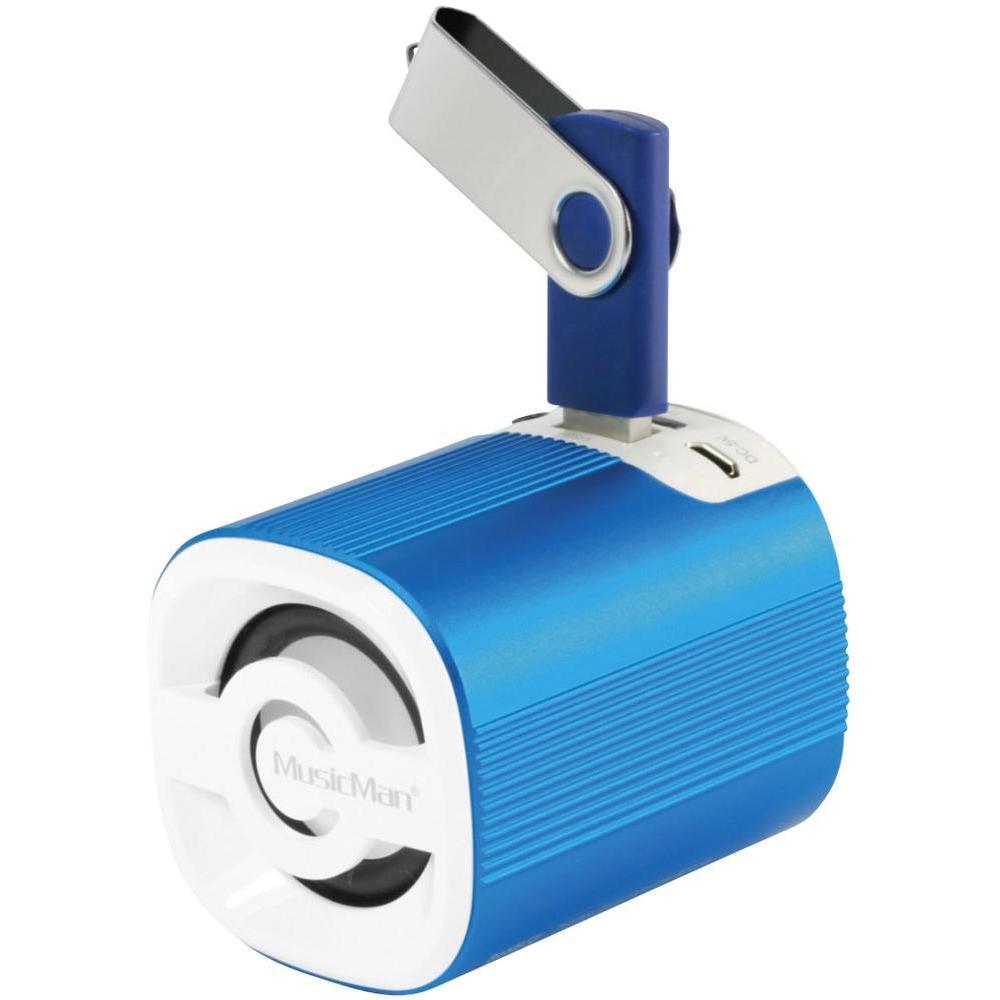 MusicMan 4239 BT-X4 Grenade Bluetooth Soundstation Lautsprecher - blau